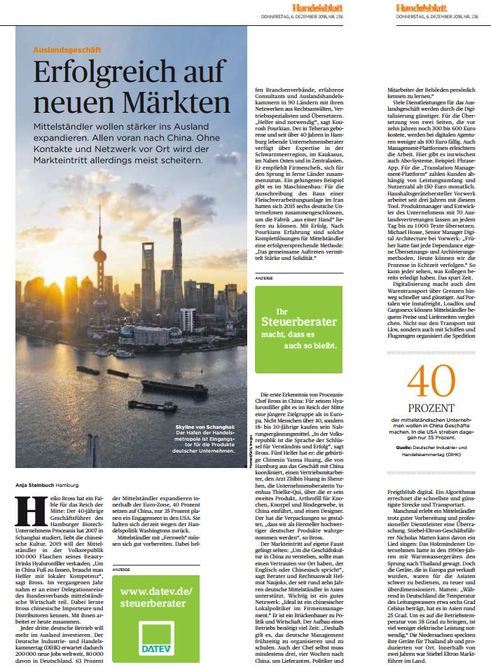 Naujoks im Handelsblatt zu den neuen Märkten